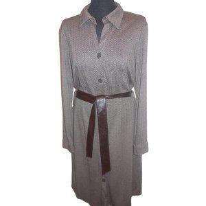 Apostrophe Shirt Dress Button-down knit brown